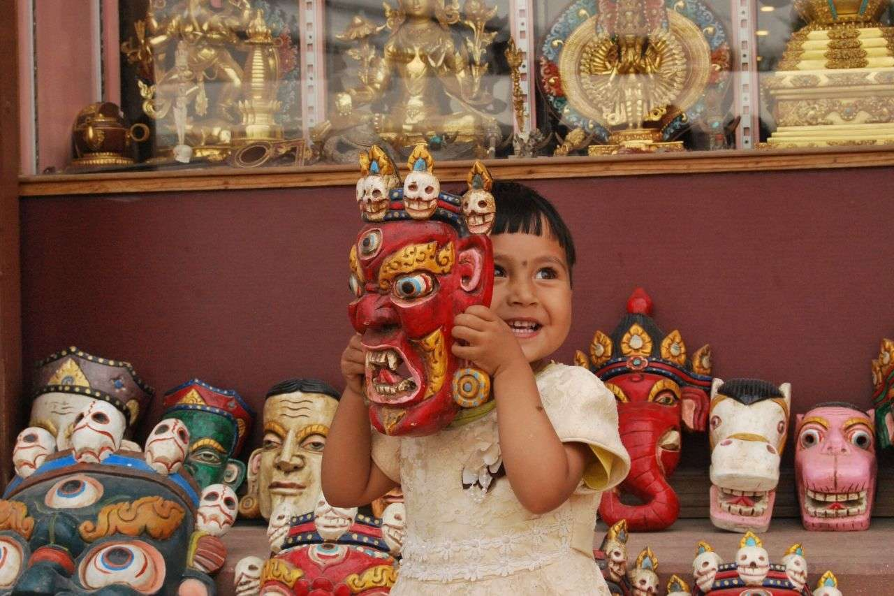 Tibetan masks - curio things to buy in India