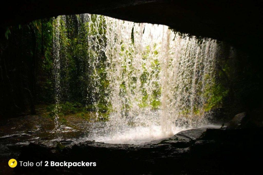 Tuirihiau Falls from the back