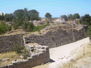 Walls in City of Troy - Turkey