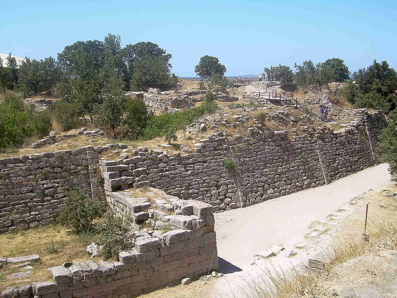 Walls in City of Troy - Turkey
