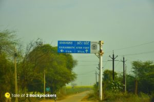 Way to Kakanmath Temple - signpost