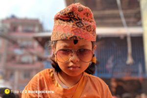 A cute Nepali girl at Thimi Bhaktapur