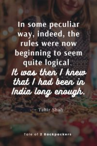 Best Quotes About India by Tahir Shah