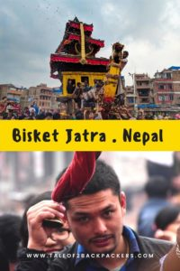 Bisket Jatra at Bhaktapur in Nepal is a visual extravaganza. This is one of the famous Nepal Festival #nepal #festivals
