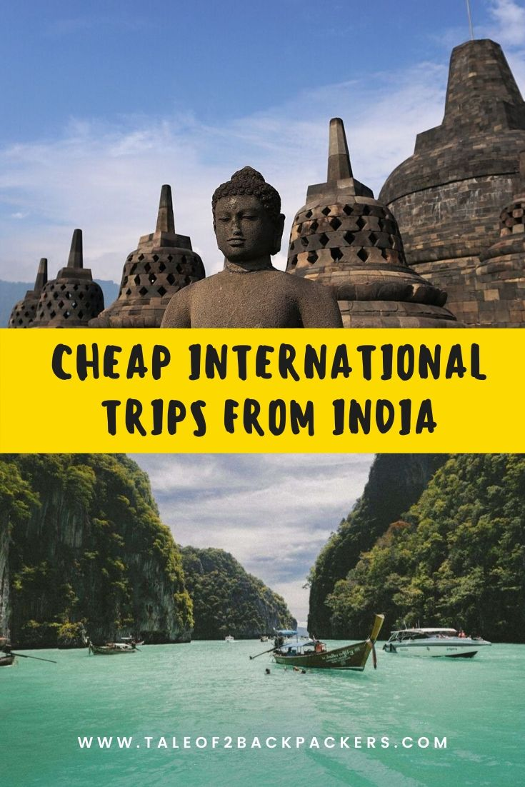Cheap destinations from India