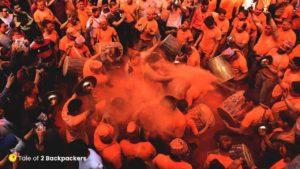 Colour me orange at Sindoor Jatra Thimi Nepal