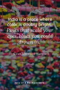 Cultural quotes about India