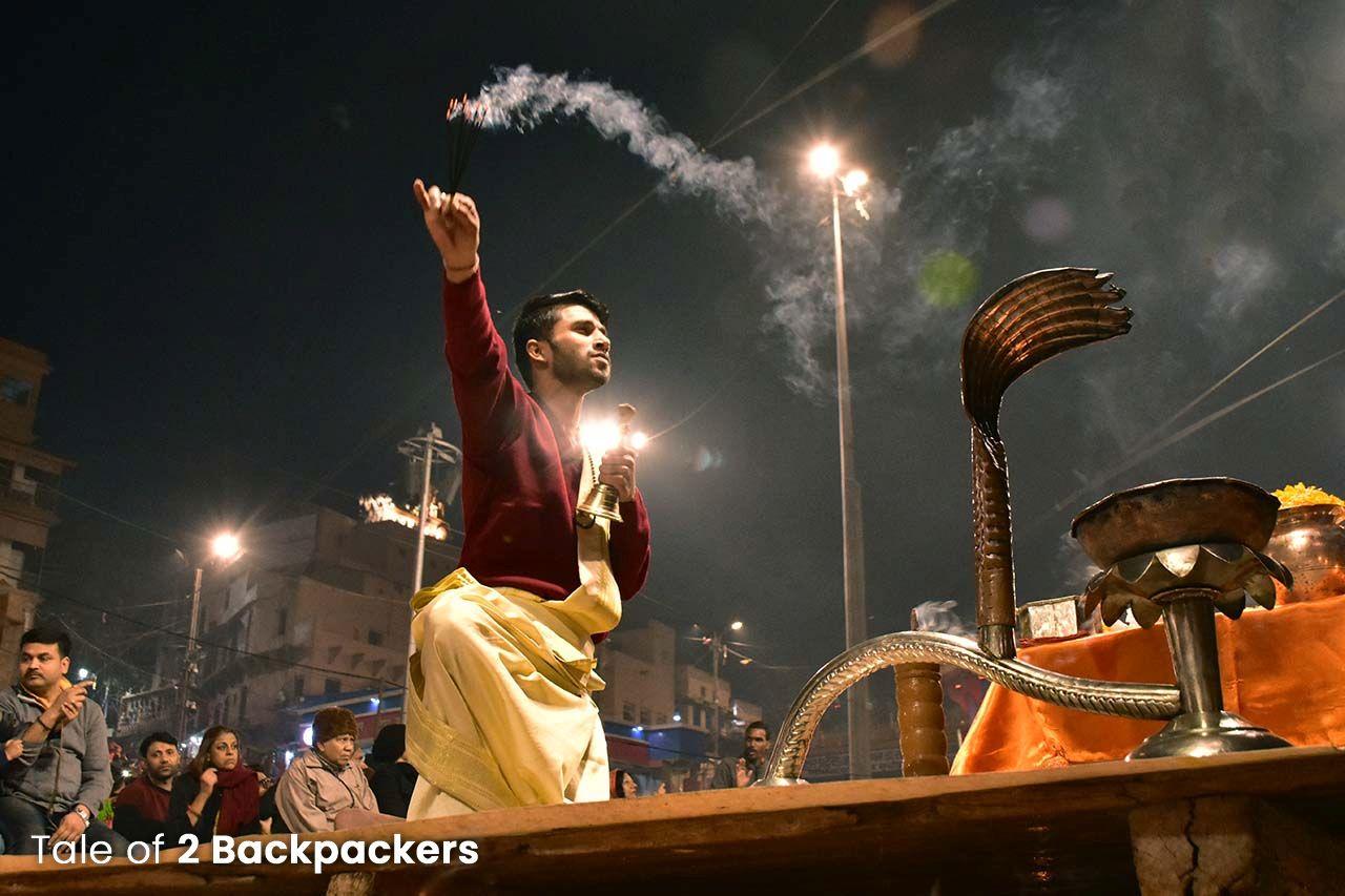 Ganga Arati in Varanasi Ghat