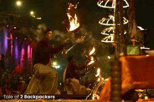 Ganga Arti in evening at Dashashwamedh Ghat in Varanasi