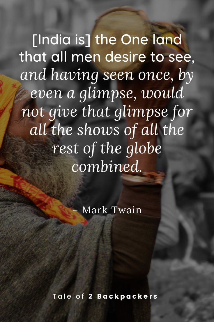Mark Twain Quotes about India