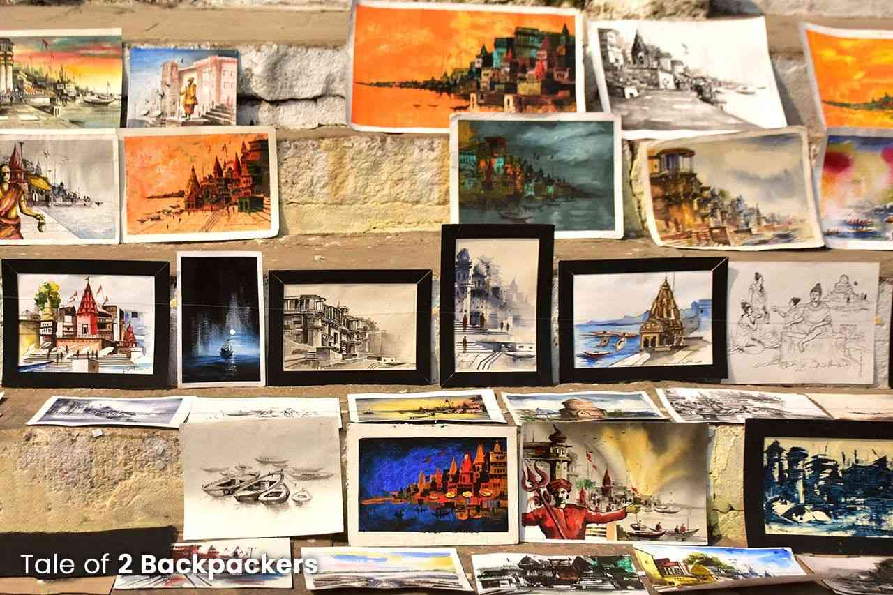 Paintings of Ghats of Varanasi