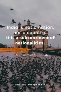 Quotes about India by Md Ali Jinnah, first prime minister of Pakistan