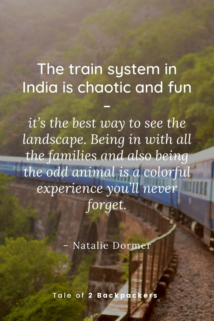 Quotes on Indian Train Journey
