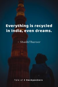 Shashi Tharoor Quotes on India - Everything is recycled in India, even dreams.