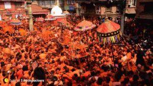 Sindoor Jatra in Thimi Nepal