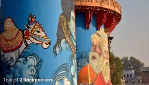 Wall art at Rajendra Prasad Ghat in Benaras