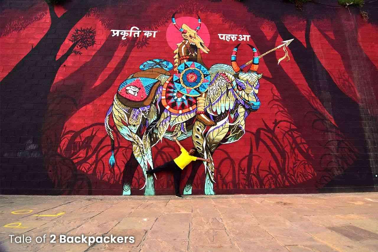Wall art in Kashi