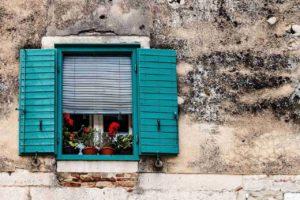 A window in Croatia