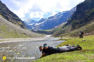 Being crazy near Rupin Pass - Laugh at yourself - travel tip
