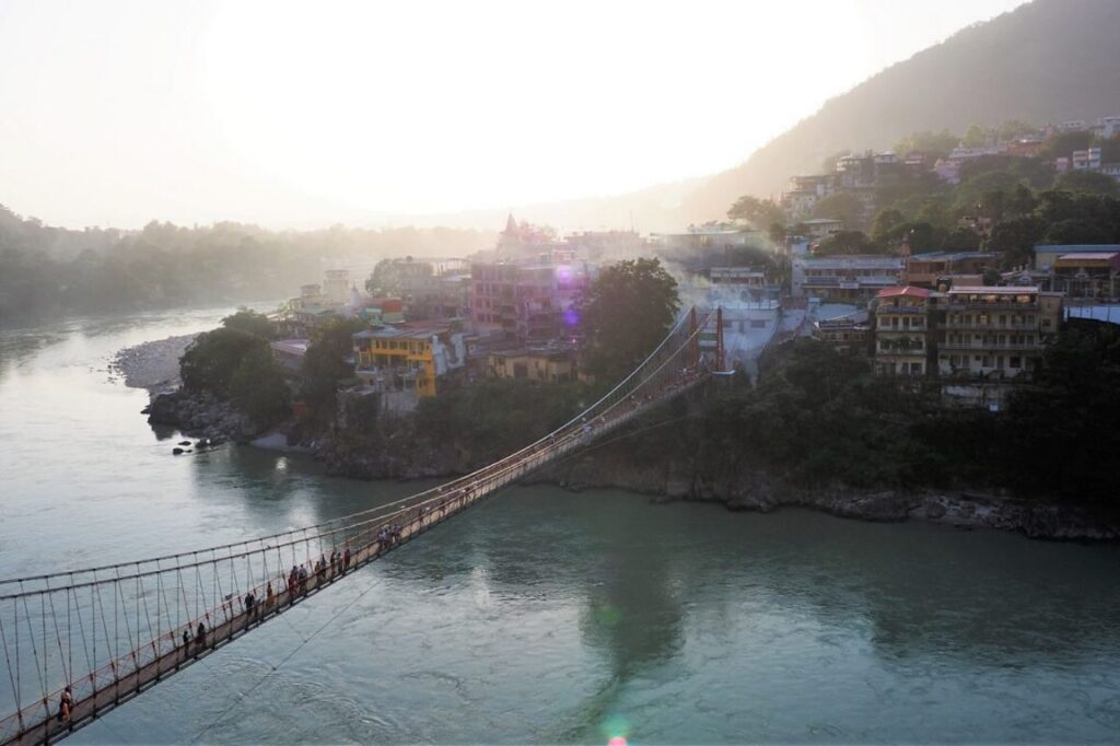 Laxman Jhula in Rishikesh India - best place for yoga retreats in India