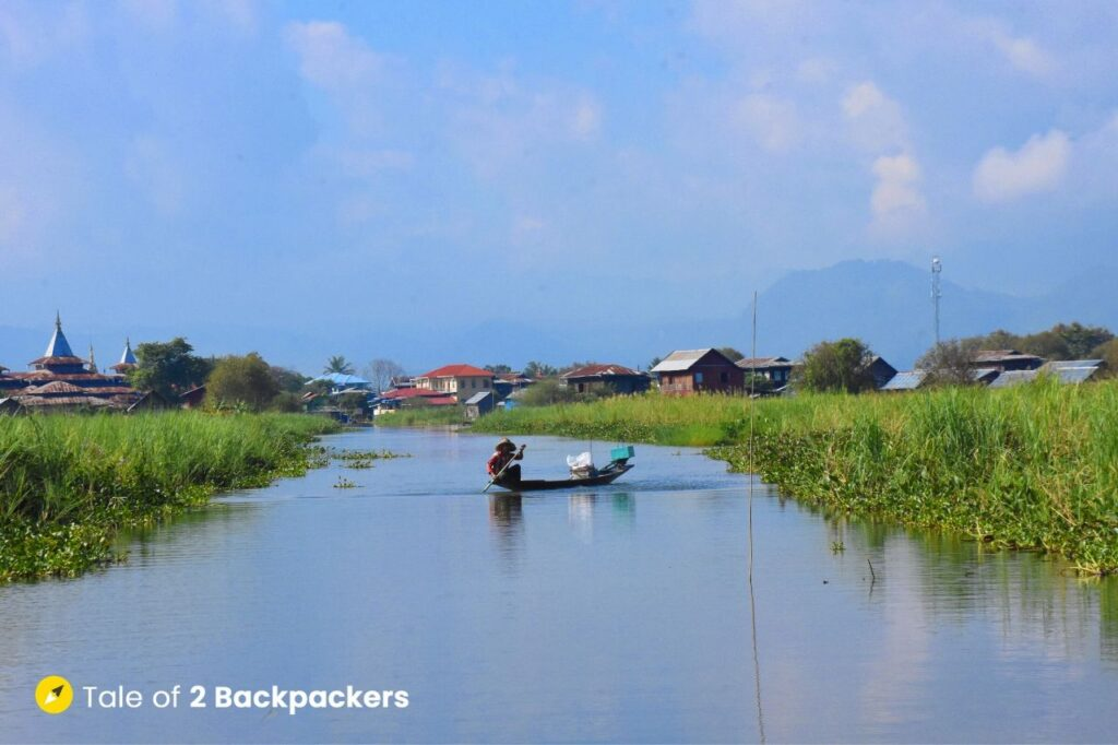 Canals at Inle Lake Myanmar