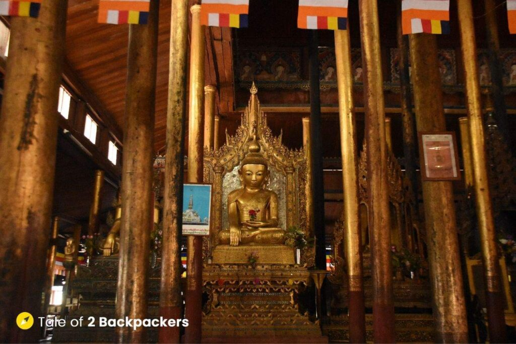 Interiors of Nga Hpe Kyaung  Monastery or the Jumping Cat monastery at Inle Lake - Inle Lake Boat Tour