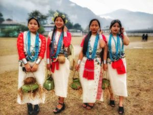 Nyishi women in their traditional dress during Nyukom Yullo Festival, Arunachal Pradesh - Interesting cultures around the world