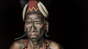 Portrait of a Konyak Naga Headhunter of Nagaland