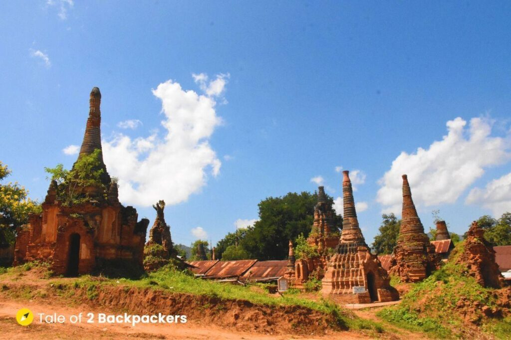 Ruins of stupas at Indein village, Inle Lake