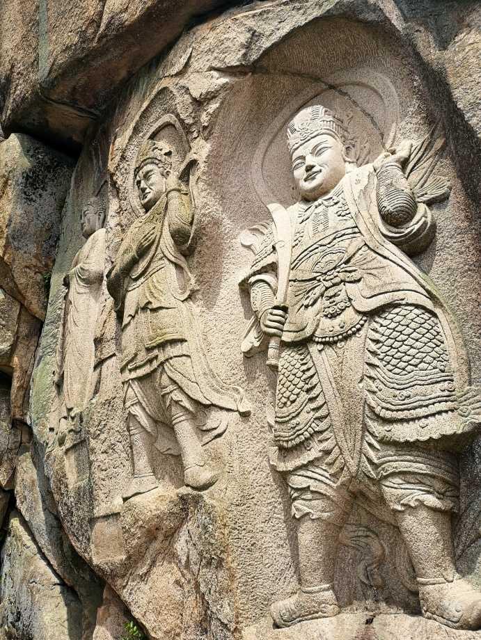 Seokbulsa temple carvings in Busan South Korea