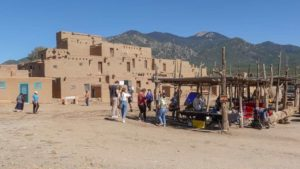 Traditional arts and crafts available at Taos Pueblo