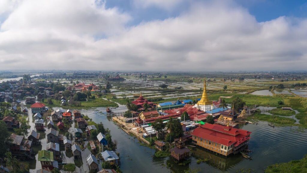 Top view of Inle Lake