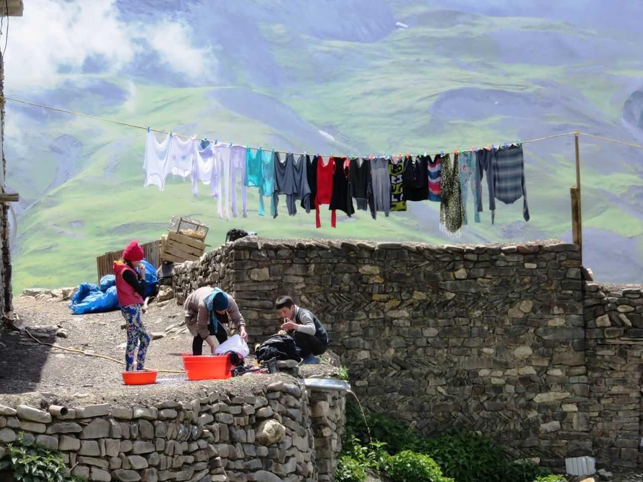 Khinaluq people in Xinaliq, Azerbeaijan, Europe