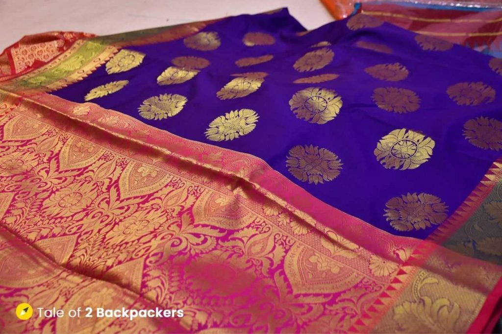Benarasi silk katan saree made in Varanasi
