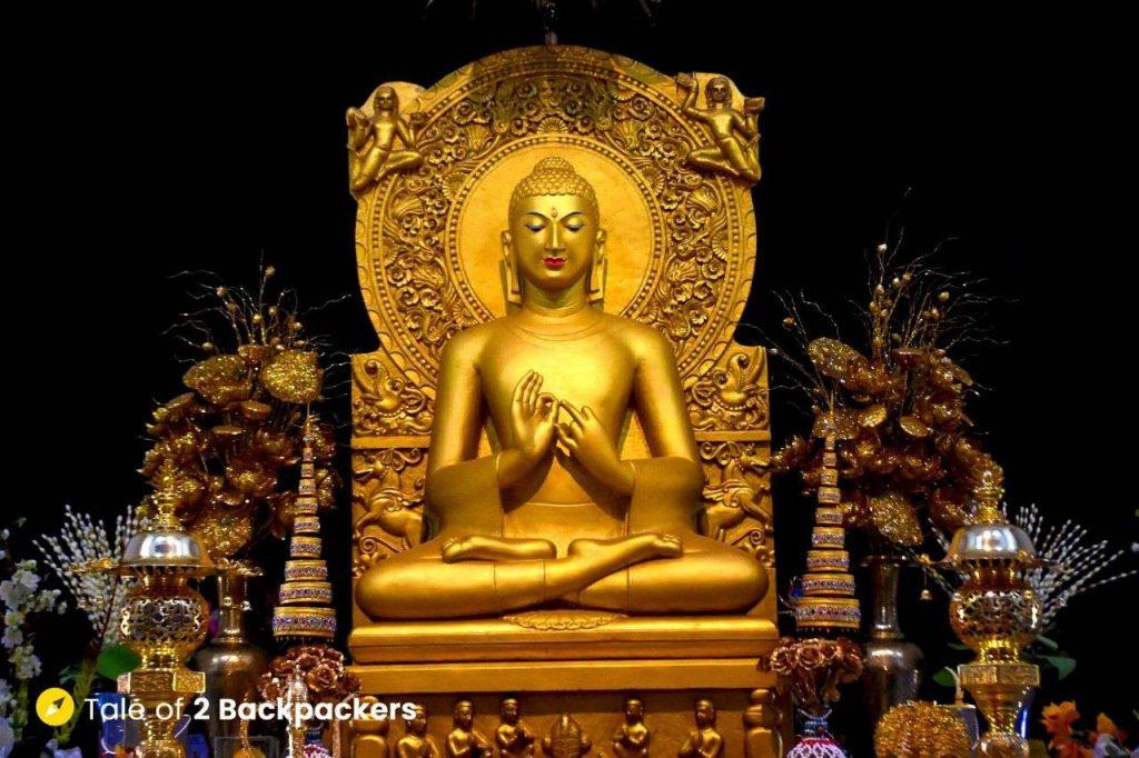 Buddha statue at Mulgandha Kuti Vihara at Sarnath