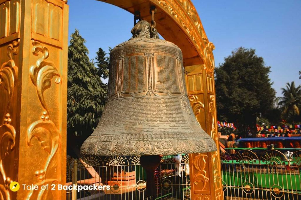 Huge Bell at Mulgandha Kuti Vihara