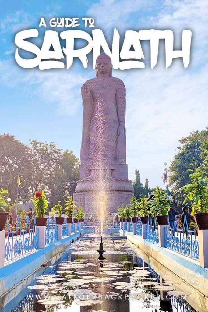 Giant Buddha statue at Sarnath