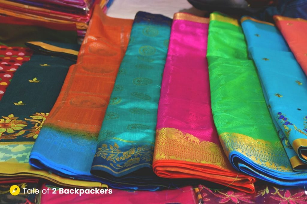 Cheaper variant of machine made Banarasi sarees