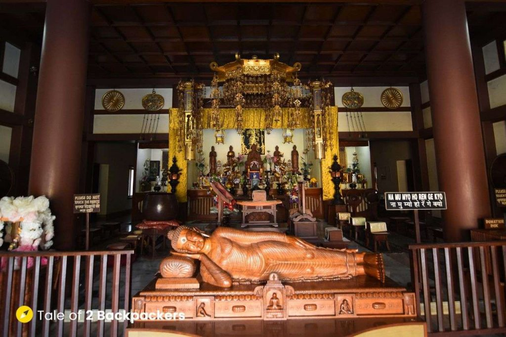 Reclining Buddha Statue at Japanese Temple
