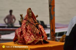 Statue of Ganga Maiyaa who is revered as Goddess and mother in India