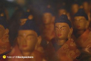 Statues of Buddha at Tibetan Monastery at Sarnath