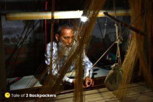The Bunkaars or weavers at work in Varanasi