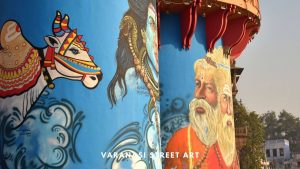 Varanasi Street Art, wall art and graffiti