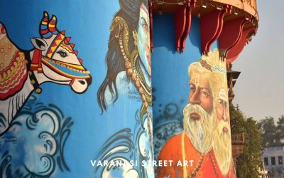 Varanasi Street Art – Adding colour with Graffitis and Art
