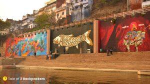 Varanasi Wall Art at ghats