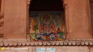 Wall art at Varanasi