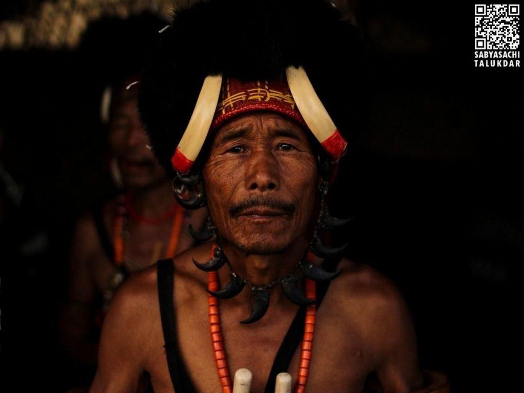 Naga warrior at Hornbill Festival