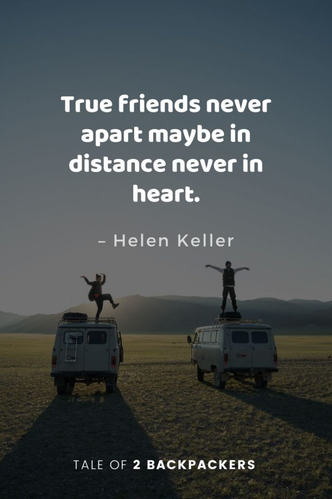 Hellen Keller quotes about travelling and friends