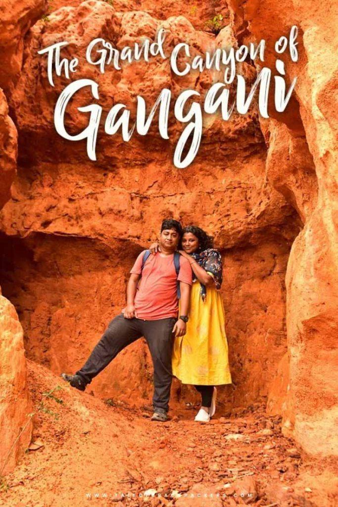 Posing at Gangani weekend destination from Kolkata