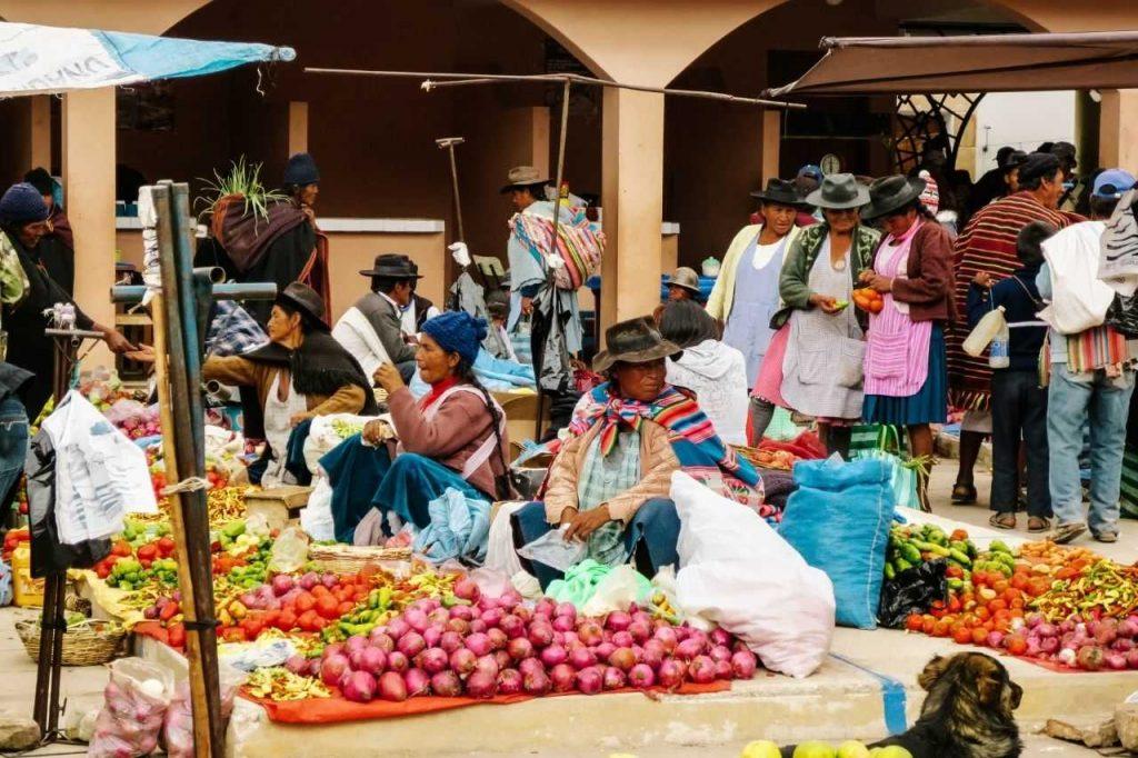 Tarabuco vegetables market in Sucre